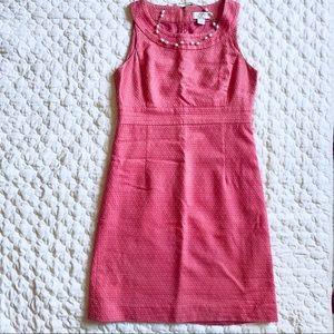Loft Nantucket pink dress